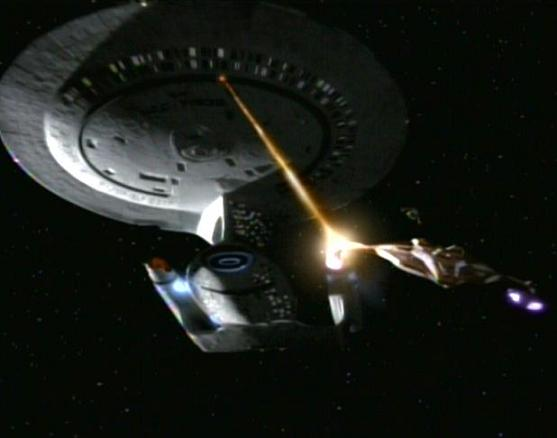Odyssey fights Jem Hadar ship
