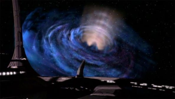 Wormhole opens at Deep Space Nine