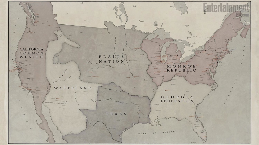 Some Future & Alternate North American Maps | Starloggers on fallout maps for north america, map of science fiction, map with legend scale, map of london blitz, map of modern africa, map of earth,