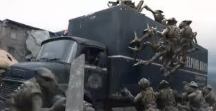 skitters attack truck