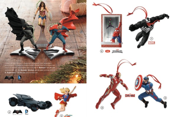 superhero 2016 ornaments