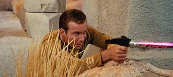 Kirk fires phaser