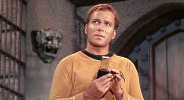 Kirk with communicator