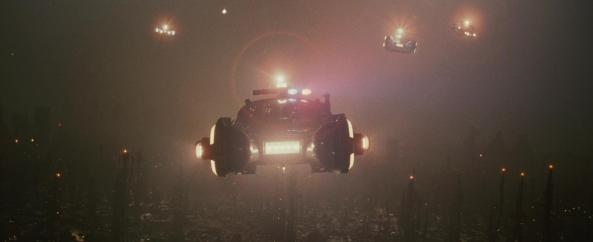 Blader Runner car over LA