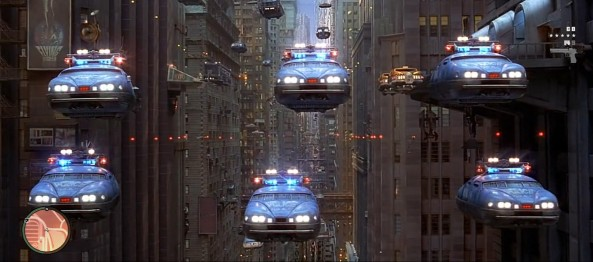 Fifth Element flying police cars