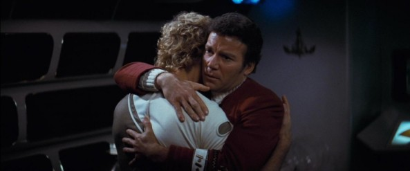 James Kirk hugs his son
