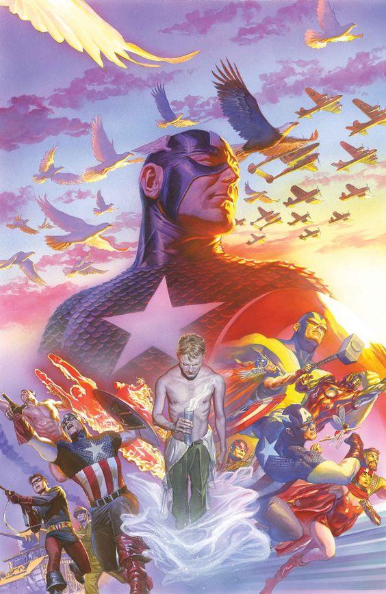 Alex Ross Captain America art