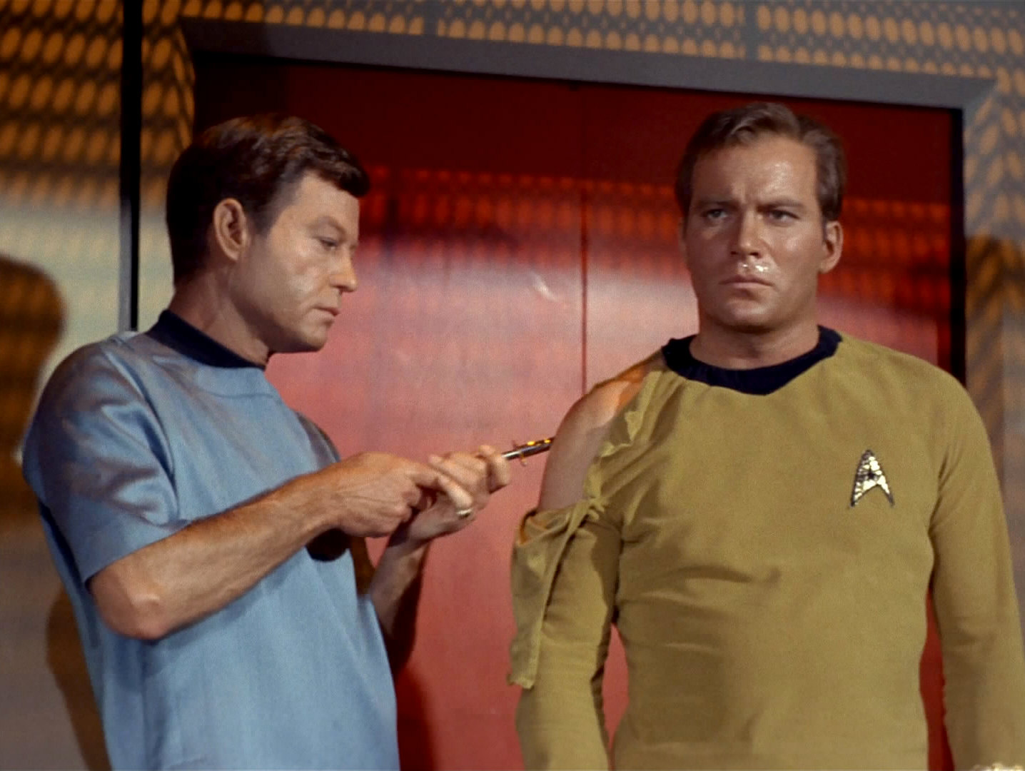 James Kirk in Naked Time