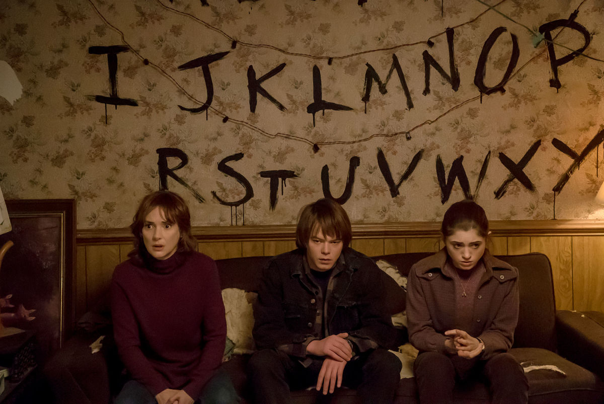 Joyce Byers and Company in Stranger Things