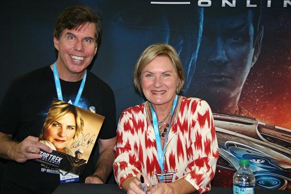 Denise Crosby and fan
