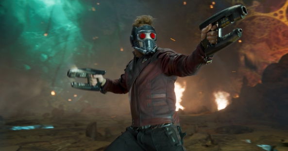 Star Lord blazing guns