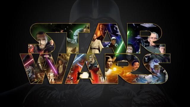 Resultado de imagem para Star wars logo with all characters