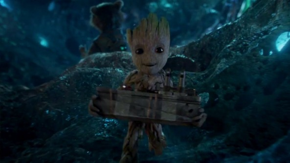 baby groot and bomb