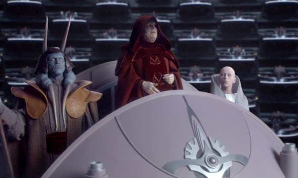 Palpatine forms Empire