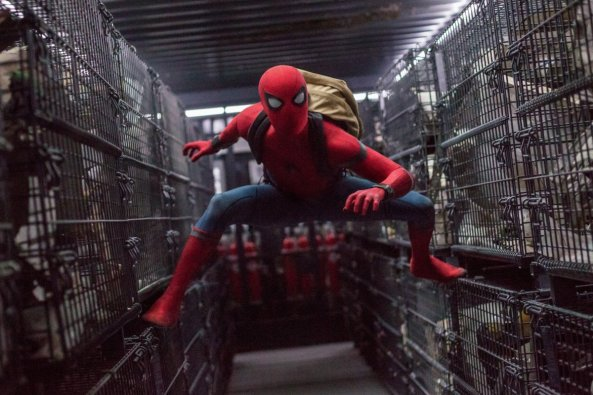 Spiderman Homecoming in truck