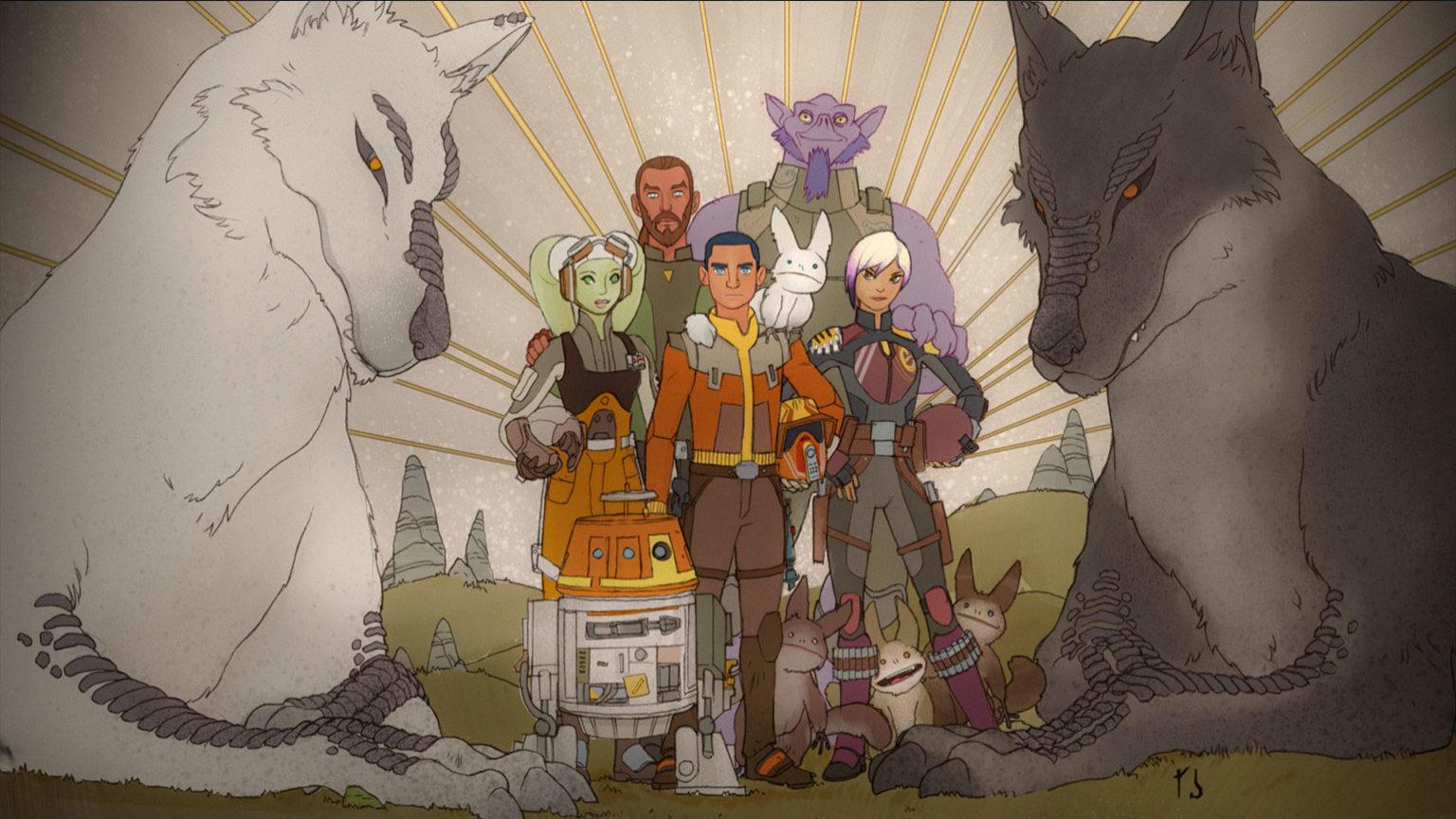 Star Wars rebels mural