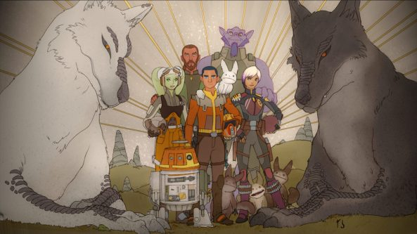 Star Wars rebels mural