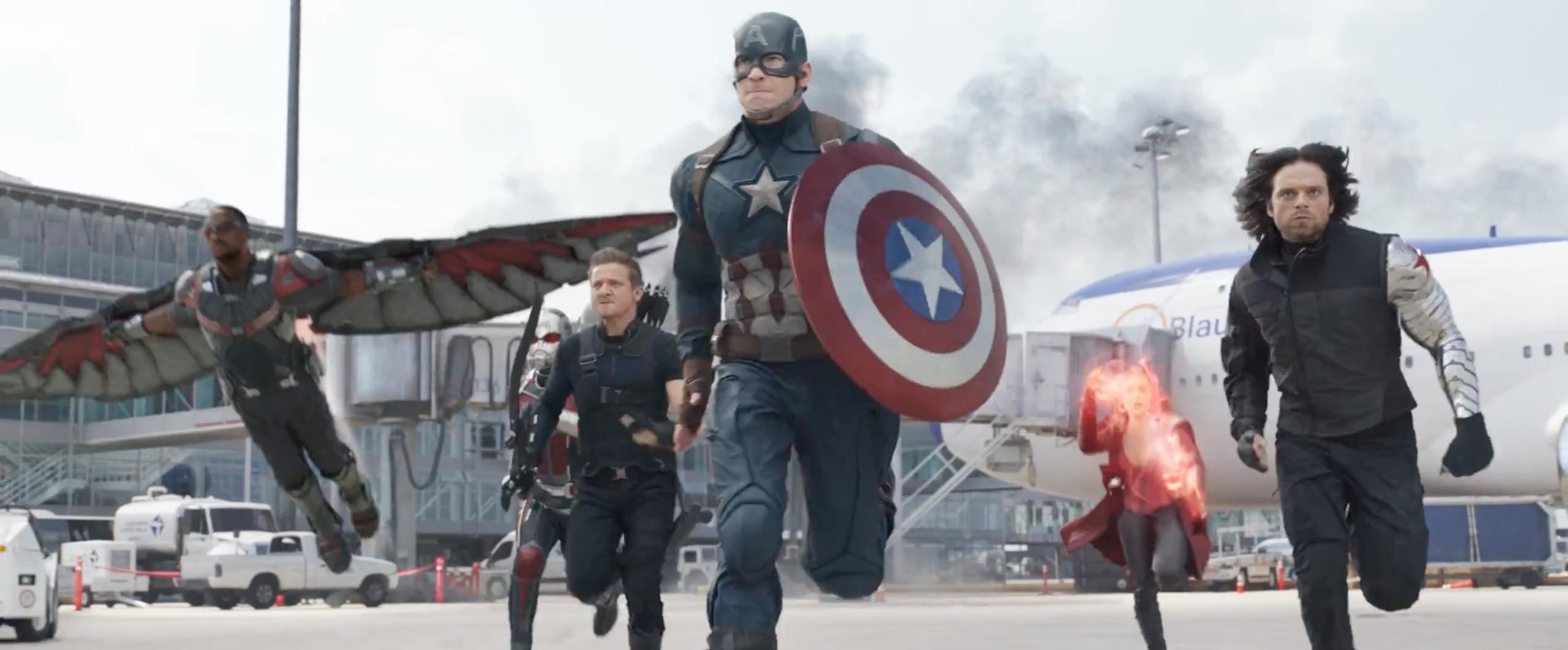 Captain america civil war team cap