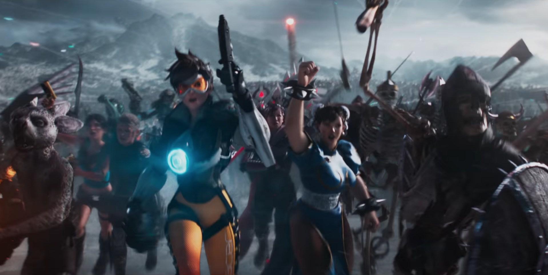 Overwatch Tracer and Chun Li