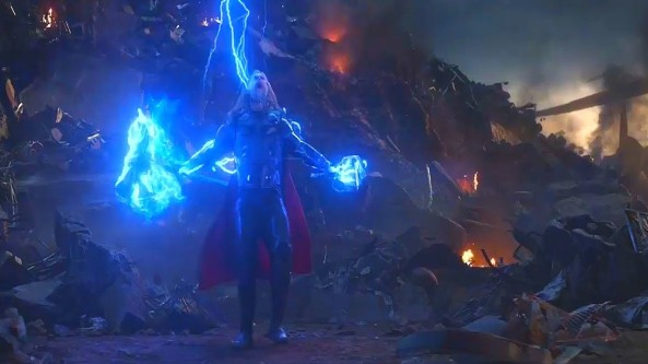 Thor with two hammers