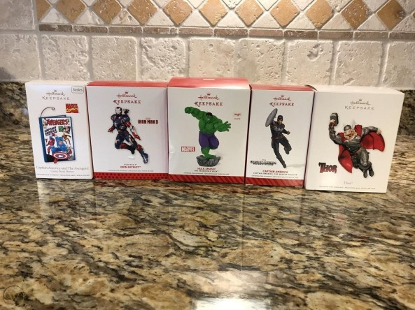 marvel hallmark ornaments